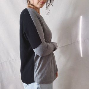 FRENCH CONNECTION Colorblock Lightweight Sweater